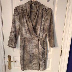 Wilfred snake print robe dress